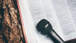Microphone & book